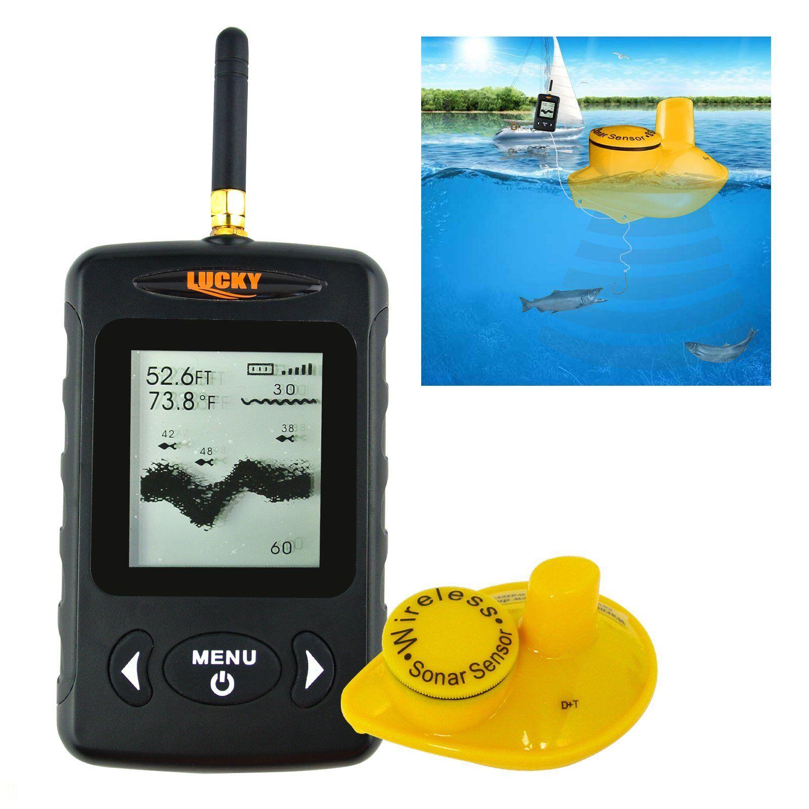 Fish Finder Locator 120m (400ft) Wireless Range 45m (147ft) Depth Range Fishing