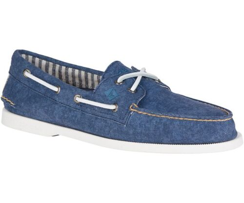 SPERRY AUTHENTIC//ORIGINAL 2 EYE BOAT SHOES WASHED NAVY