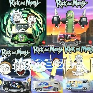 HOT-WHEELS-2020-POP-CULTURE-RICK-amp-MORTY-DODGE-VW-DRAG-FORD-PRE-ORDER