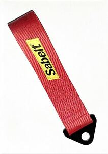 Sabelt Competition Car Fixed Tow Eye Strap/Webbing Red