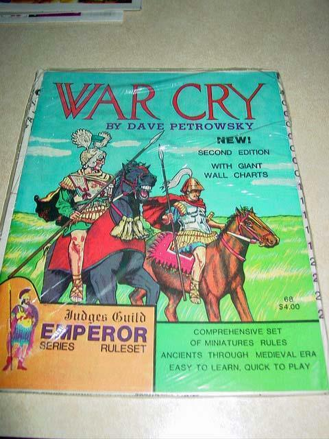 Judges Guild EMPEROR Series - WAR CRY Rules - 2nd Edition - Vintage - Ruleset