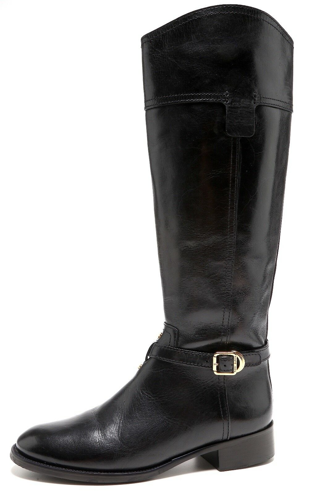 Tory Burch Eloise Leather Riding Boots Black Women Size 8.5M 1066