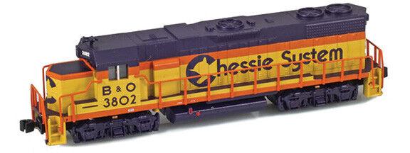 AZL Z Scale Locomotive Chessie B&O GP38-2 Road Number 3802