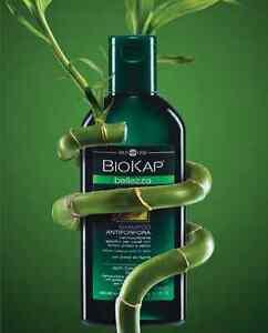Biokap shampoo, balsami, creme e trattamenti speciali per capelli splendenti.