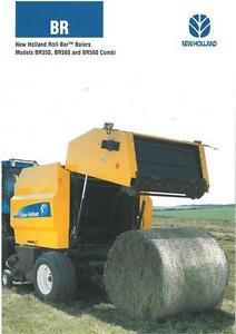 NEW HOLLAND ROLL BAR BALER BR550 BR560 & BR560 COMBI BROCHURE - BX105/BXF10
