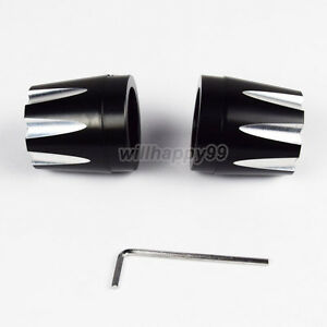 Black Deep Cut Front Axle Cap Nut Cover For Harley Dyna Softail Sportster 1200XL