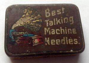 BEST-TALKING-MACHINE-NEEDLES-rare-needle-tin-Phonograph-Grammophon-Nadeldosen