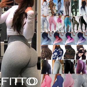 Women-Yoga-Pants-Seamless-Push-Up-Gym-Leggings-Ruched-High-Waist-Sports-Fitness