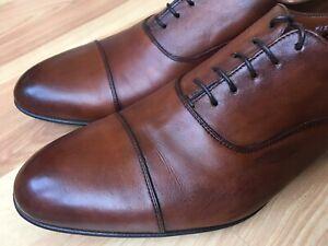 Santoni 'Darian' Brown Leather Cap Toe