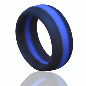 Rubber Wedding Rings For Men >> 1cm Men's Silicone Wedding Ring -NAK Fitness | eBay