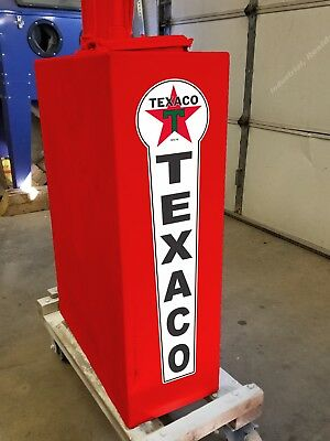 """10/"""" x 10/"""" TEXACO Shield Gas Vinyl Decal Lubester Oil Pump Can Lubster Restore"""