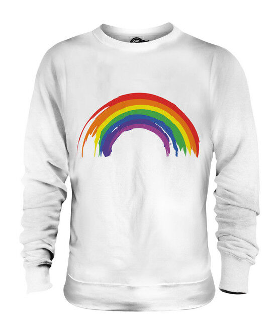 PAINTED RAINBOW UNISEX SWEATER  TOP GIFT LGBT PAINT