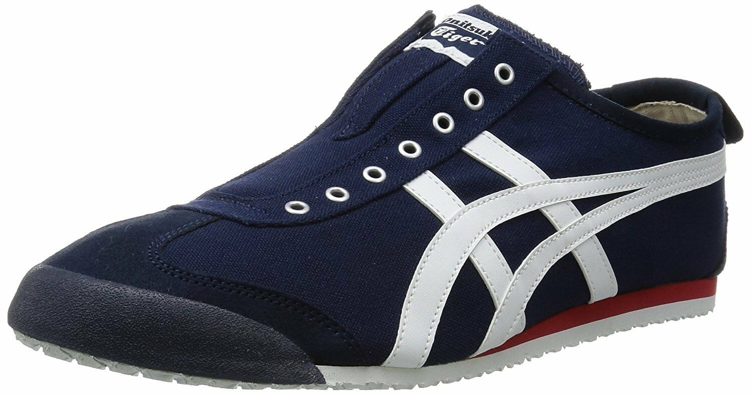 Onitsuka Tiger Asics MEXICO 66 SLIP-ON Shoes TH3K0N NAVY BIANCA US6.5(25cm)