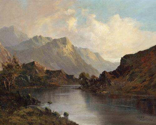 Scottish Mountain Landscape Scotland Painting 8x10 Real Canvas Art Print