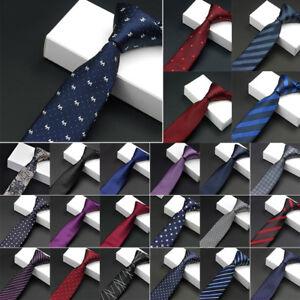 Men-039-s-Necktie-Jacquard-Slim-Skinny-Woven-Narrow-Polyester-Tie-Party-Wedding-Hot