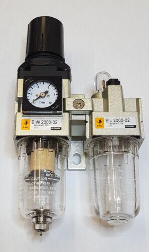 """Unidad de mantenimiento 2 piezas 1//4/"""" con manómetro 0-10 bar"""