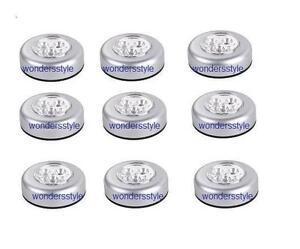 9-x-Self-Baton-N-CLICK-3-leds-clair-a-piles-POUSSOIR-arret-Touche-Lumieres