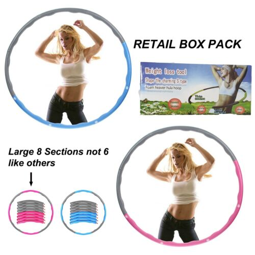 Professionnel Pliable Hula Hoop Pondérée Fitness Exercice Abs Entraînement Gym