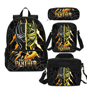 Black-Panther-T-039-Challa-Backpack-Marvel-Superhero-School-Bag-Set-Custom-Gift-Lot