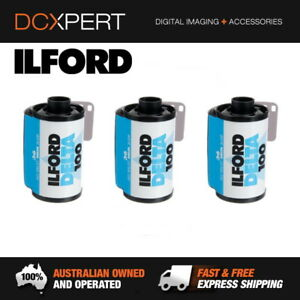ILFORD-DELTA-100-3-PACK-36-EXPOSURES-35mm-BLACK-amp-WHITE-NEGATIVE-FILM
