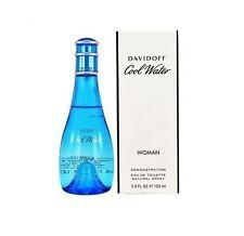 Cool Water Davidoff Women 3.4 oz 100 ml Eau De Toilette Spray Tst Bottle Cap