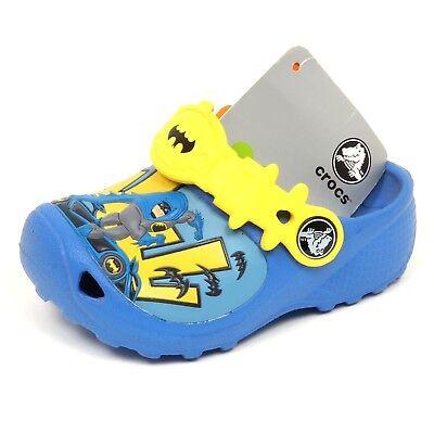 E6998 sandalo bimbo CROCS sea blue rubber sandal shoe kid