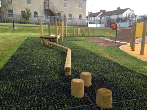 Swing Ground Protection Rubber Grassmat Safety Floor Kids Childrens Playgound