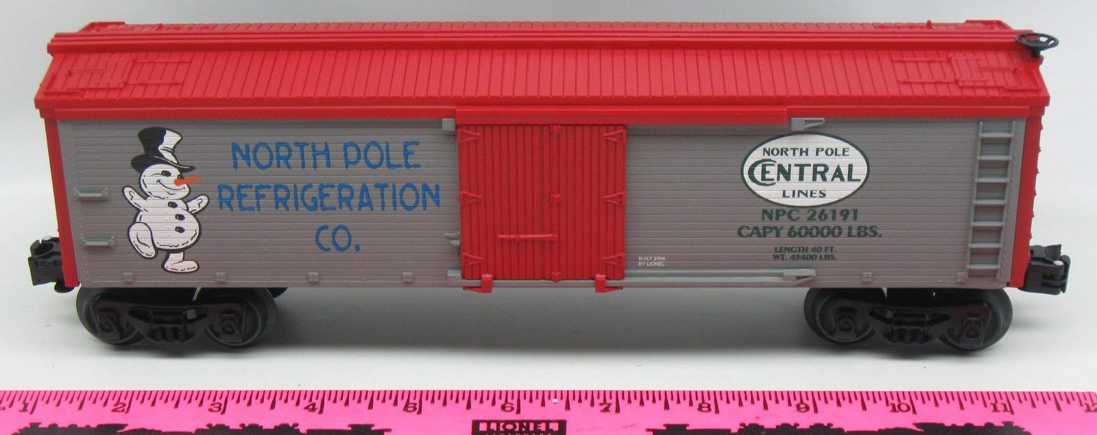 Lionel 26191 North Pole Refrigeration Co. Boxcar