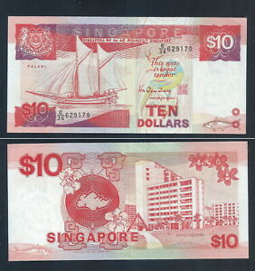 BANKNOTE-1-pc-SINGAPORE-10-SHIP-SERIES-By-Mr-Richard-Hu-Tsu-Tau-140-AU
