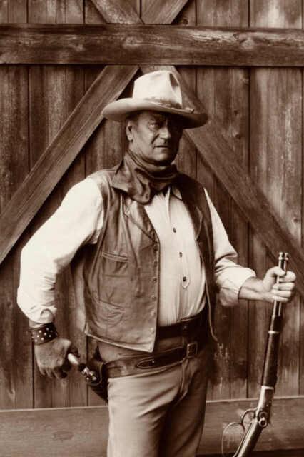 "THE SEARCHERS Movie Silk Poster 27/""x40/"" John Wayne Western"