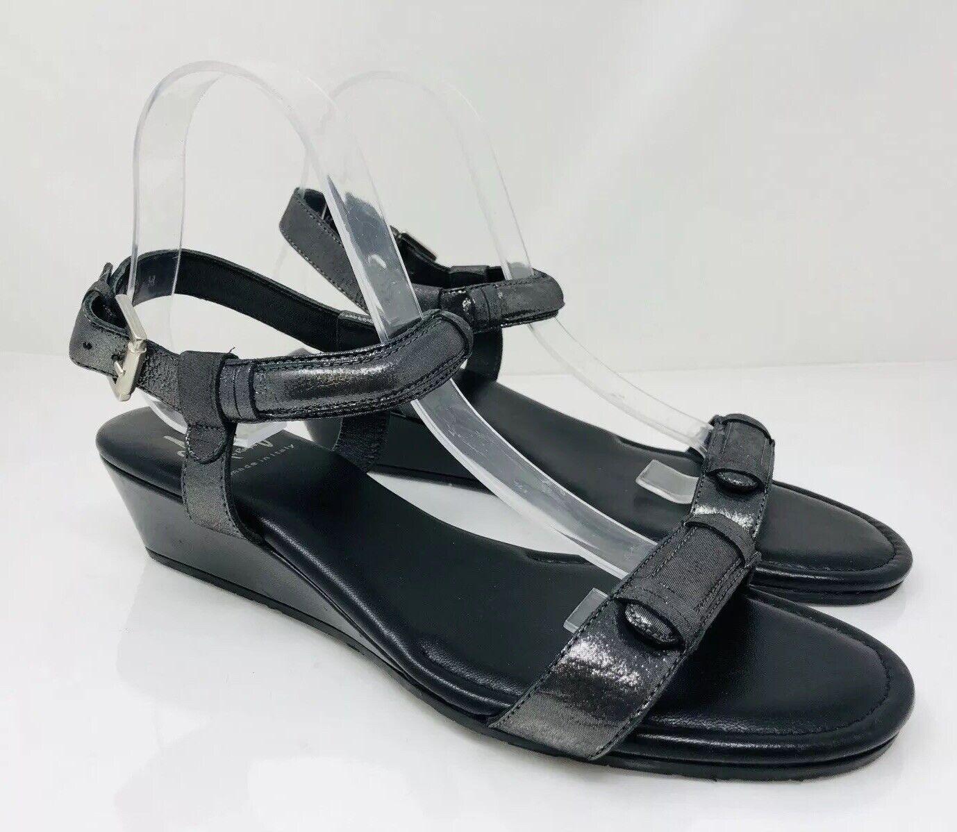 Amalfi by Rangoni Milazzo Strappy Wedge Sandal Women Size 10, MSRP