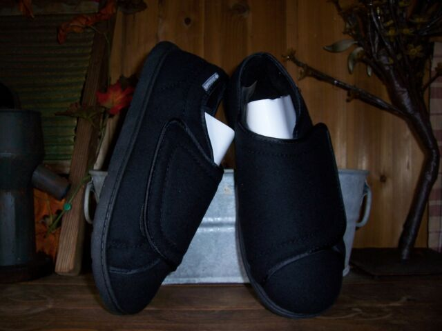 eac93d06ec DR SCHOLLS MENS THERAPEUTIC SHOES SIZE 9 10 EEE WIDE WIDTH BLACK ADHESIVE  STRAP