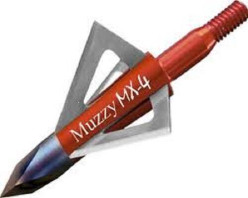 3PK Muzzy MX-4 lame fixe large tête 4 Lame 100 Grain 1 1//8 Cut Broadheads