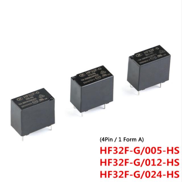 5v 12v 24v Dc Pcb Relay 4 Pin 10a Black Power Relay 1 Form