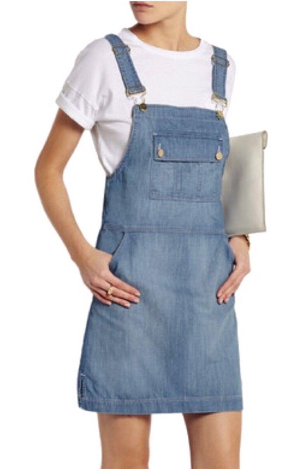 Frame Le apron Reese Soft Denim Overall Skirt Dre… - image 7