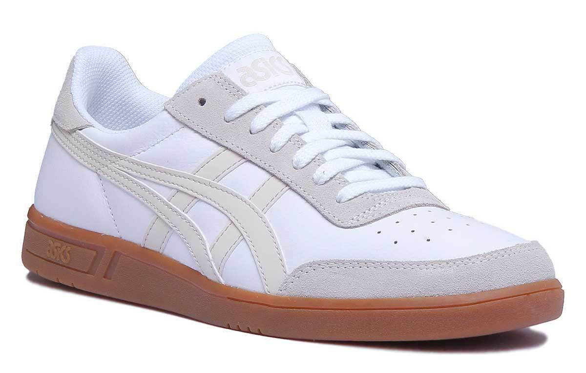 Asics Gel Leather Viccka TRS Unisex Suede Leather Gel White Trainers 2a9216
