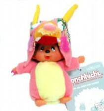 "Sekiguchi Monchhichi World Costume Hong Kong Dragon 4"" Plush Keychain SEK241910"