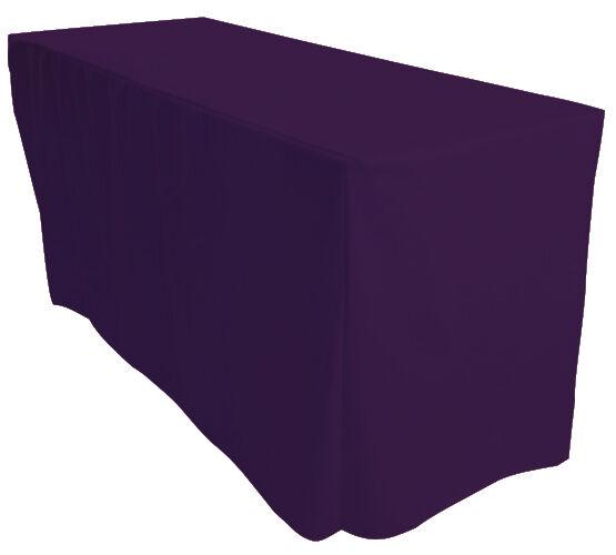 5x 6 ft (environ 1.83 m) Ajusté Violet 4 faces Rectangulaire Chevalet Exhibition Nappe
