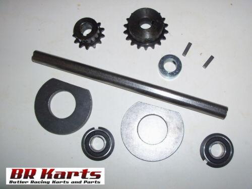 "3//4/"" x 14/"" #40//41 Chain NEW Jackshaft Kit for Mini-Bike Chopper or Go-Kart"