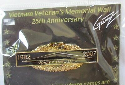 2019 Fashion Vietnam Veteran's Memorial Wall 25th Anniversary 2007 Pin New Convenient To Cook Made By Gunz