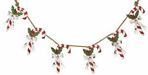51in-Long-Christmas-Metal-Candy-Cane-on-Rope-Garland-Banner-Decoration