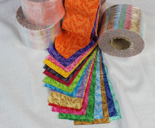 """17 colors High Quality Fabric 2 1//2/"""" Jelly Roll cuts Precision cut"""