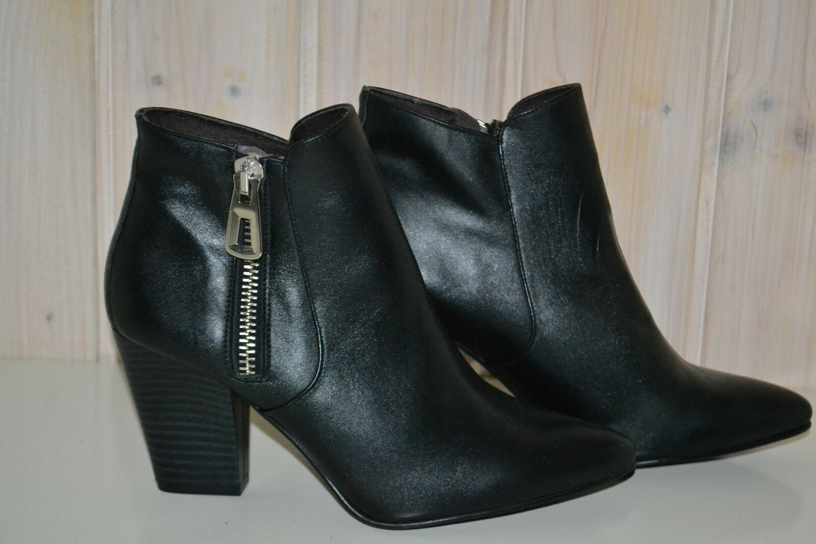 Folie`s Cazuse-Damen-Schuhe Stiefeletten Elegante-Echtleder-Schwarz-Gr.40-Neu