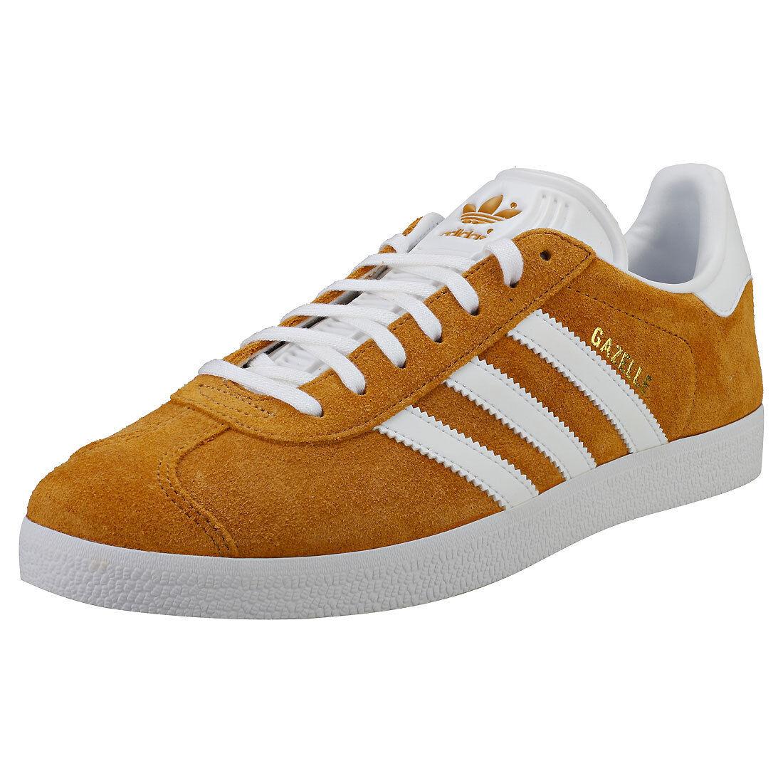Adidas Gazelle   Herren Herren Herren Tan Weiß Suede & Synthetic Trainers - 10 UK 5cac80