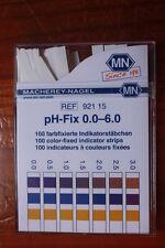 pH-Fix 0.0-6.0 Strisce indicatrici di pH, universali ref 92115 MN