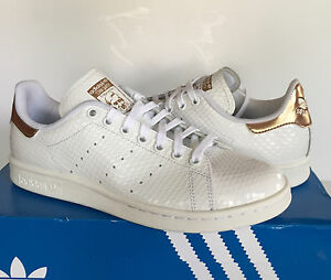adidas stan smith white copper metallic