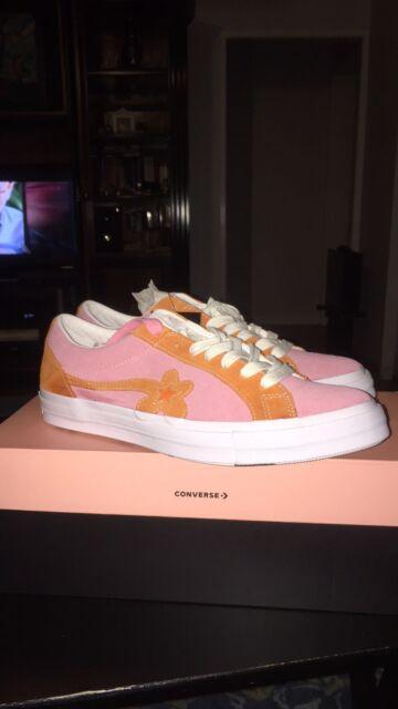 41eb93d3106df0 New Converse Golf Le Fleur Converse One Star Pink Orange Tyler The Creator  RARE