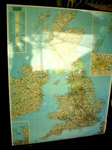 Big Map Of England.Details About Big Laminated Foam S H Map Of England Great Britain 130 X 110 Cm Framed