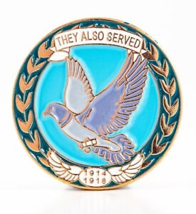 WW1 1914-1918 ANIMALS AT WAR CARRIER PIGEON REMEMBRANCE ENAMEL MILITARY BADGE