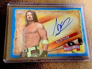 AJ-STYLES-2020-TOPPS-WWE-ROAD-TO-WRESTLEMANIA-ON-CARD-AUTO-BLUE-50